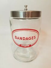 Vintage Doctor Nurse Office Profex Glasco BANDAGES Glass Apothecary Jar MCM