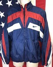 9f3d5d70f8 Vintage 90s Nike Windbreaker Track Jacket Red White Blue Run DMC HIP HOP RAP  L