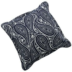 """CHAPS Home ALLISTAIR Set of 2 PILLOWS Size: 20 x 20"""" New SHIP FREE Paisley Navy"""