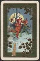 Playing Cards Single Card Old IMPS ELVES Forest Moonlight RABBIT BEE Artist Art