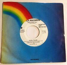 "Steel Pulse 45 Reaching Out  PROMO  7"" vinyl  NM  Reggae"