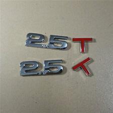 2x New Chrome 2.5T Red Metal Emblem Badge Sticker Decal Sport awd  Motors Car v6