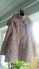 Baby pink coat jacket winter hood hooded furry fur