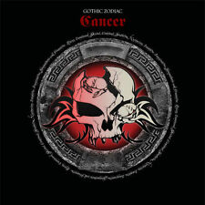 Cancer Gothic Zodiac Birthday Card for him/her or any occasion red & black