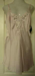 Cinema Etoile pink Satin chemise with lace trimmed bust Size Large
