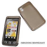 Silikon Case Smoke für LG KP500 transparent schwarz Schutzhülle Schutzcase Cover