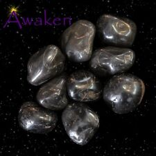 *ONE* BLACK ONYX Natural Tumbled Stone Approx 15-20mm *TRUSTED SELLER*