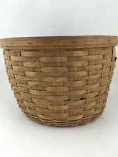 Longaberger 1985 Corn Basket Large Round Basket Vintage Dark Older