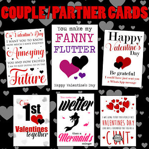 Funny Valentines Day Card Rude Birthday Anniversary Him Her Cheeky Naughty Adult