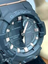 Casio 5555 Unisex Watch G-Shock GMAB800 Bluetooth Connect Rose Gold Black Resin