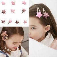 Baby Kids Children Shiny Princess Sequins Star Heart Butterfly Girls Hair Clip d