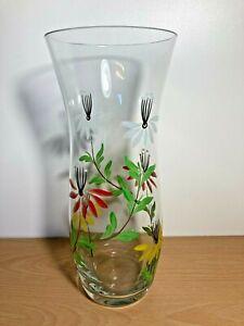 Glass Vase - Multicoloured Flowers - 30 cm