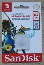 Nintendo Switch Zelda Sandisk MicroSDXC 64GB NEW   Official Nintendo Licensed