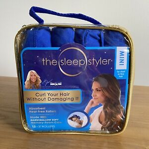 "Shark Tank Sleep Styler Short Fine Hair 12 Mini 3"" Rollers SimplySet,Sleep,Style"