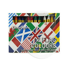Stargazer Colore Bastoni-Bandiere colori per il viso squadra di rugby di calcio Inghilterra ecc.