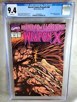 Marvel Comics Presents #84 Weapon X 1991 CGC 9.4 NM White Pages - Comic I0071