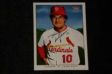 HOF TONY LaRUSSA 2003 TOPPS 206 SIGNED AUTOGRAPHED CARD #395 CARDINALS