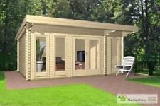 Gartenhäuser aus Holz mit Flachdach