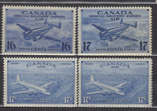 1942-1943 #CE1-#CE4 16¢ & 17¢  KING GEORGE V AIR MAIL SPECIAL DELIVERY ISSUES