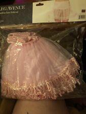 Pink Mid-Thigh Length Teardrop Lace Crinoline Petticoat