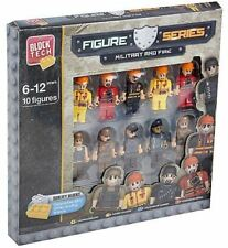 10 x MILITARY ARMY SOLDIERS & FIREMEN LEGO COMPATIBLE FIGURES CHARACTERS TOYS
