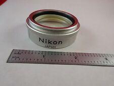 MICROSCOPE PART NIKON OBJECTIVE STEREO LENS 0.7X OPTICS AS IS BIN#K9-B-12