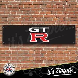 Nissan GTR Banner Garage Workshop Sign Printed PVC Trackside Display