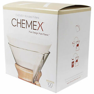 NEW Chemex Bonded Filters Pre-folded Circles to fit 6-10 Cup Chemex (100 Pack)