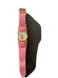 Vintage 1970's Bradley Swiss Minnie Mouse Watch With Pink Band