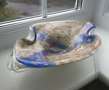 VIntage Murano aventurine inclusions art glass bowl possibly by Fratelli Toso