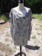 Tunique souple t-shirt gris noir blanc femme LA REDOUTE taille 36 comme neuve !!