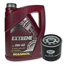 5 Liter Mannol SAE 5W-40 Extreme Motoröl + Ölfilter SM 158 von SCT Germany