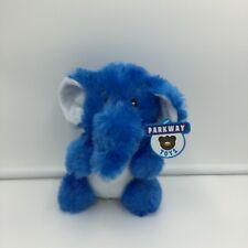 """Parkway Toys Blue White Elephant Plush Soft Toy Stuffed 2016 7"""""""