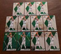 LOT (11) Grant Williams Mosaic Prizm Green Base Celtics