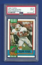 1990 TOPPS WILLIAM HOWARD ROOKIE RC PSA 9 MINT DISCLAIMER POP 1 BUCCANEERS