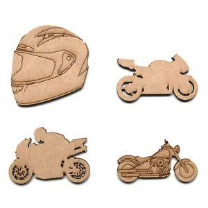 Wooden MDF Motorbike Helmet Harley Davidson Craft Shapes Embellishments