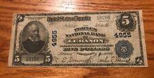 Lebanon , Pennsylvania , people's national bank, 1902 $5 PB