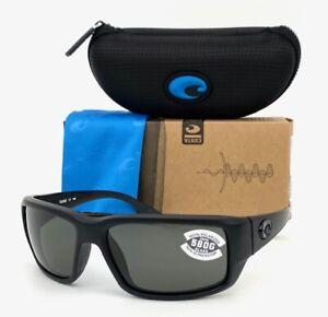 Costa Del Mar Fantail Blackout / Gray 580G  59mm Polarized Sunglasses
