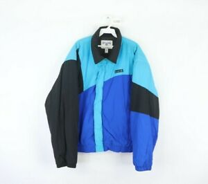 Vintage 90s Spalding Mens XL Spell Out Color Block Insulated Jacket Multi-Color