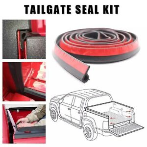 Universal Tailgate Seal with Taper Seal Tape Stripping Cover For Pickup Truck