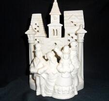 Partylite Bisque Porcelain Christmas Village Carolers Tea Light Candle Holder
