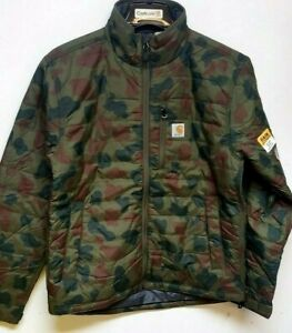 Carhartt 104580-G53 Camo Nylon Cordura® Gilliam Rain Defender Jacket