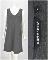 Womens Marimekko Viscose & Wool A-Line Dress Tunic Grey Basic Pocket Size M