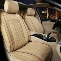 Universal Front Seat Cover Cushion Breathable PULeather Car Seat Pad Beige new