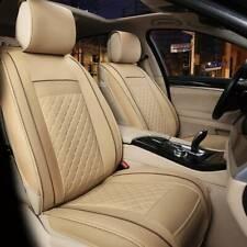 Universal PU Leather Car Seat Vehicle Chair Cover Cushion Back Decor Beige UK
