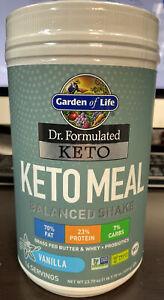 Garden Of Life Keto Meal Balanced Shake - Vanilla - 14 Servings Exp: 05/2021