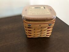 Longaberger 2002 Sm. Sweetest Gift Sweetheart Basket Protector Liner and Lid