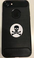 Cráneo y Crossbone Pegatina X 6 para la cubierta del teléfono Cubierta Móvil iPhone Samsung
