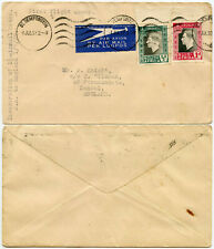 SOUTH AFRICA to ENGLAND 1937 FIRST FLIGHT 1 1/2d AIRMAIL RATE INAUGURATION