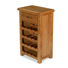 Emsworth Oak Small Wine Rack Unit Dining Room Solid Wood Furniture